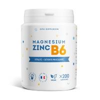 Magnésium + Zinc + B6 - 200 Comprimés (Magnésium Carbonate)