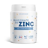 Gluconate de zinc - 15 mg - 200 comprimés (150% des ajr)