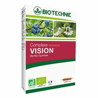 VISION BIO MYRTILLE, CASSIS, EUPHRAISE et HERICIUM Phytavision Bio - 20 ampoules - La Cour'Tisane