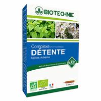 DETENTE et STRESS BIO 20 ampoules MELISSE, AUBEPINE, ANGELIQUE ET LAVANDE Phytostress Bio -
