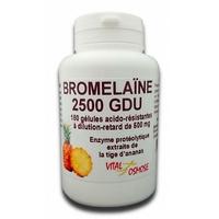Bromélaïne 2500 GDU 180 gélules 500mg Vitalosmose