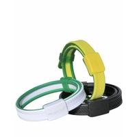 1 Bracelet anti-moustiques jaune et vert