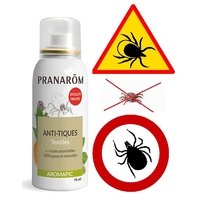 spray anti-tiques 75ml pour textiles éloigne les tiques et vous assure une protection efficace jusqu'à 3 jours
