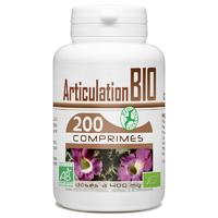 Articulation Bio 400mg - 200 Comprimés harpagophytum, reine des pres, prele