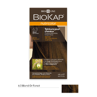Coloration BLOND OR FONCE 6.3 Nutricolor BIOKAP 135 ml
