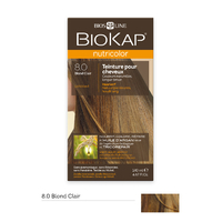 Coloration BLOND CLAIR 8.0 Nutricolor BIOKAP 135 ml