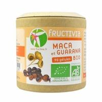 Maca et Guarana bio Fructivia 90 gélules