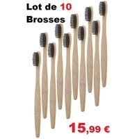 10 Brosses à dents bambou infusée au charbon