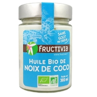 Huile Noix de Coco Désodorisée Bio 300ml FRUCTIVIA
