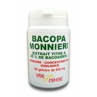 Bacopa Monnieri (Brahmi) bacoside 60 gélules