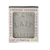 Savon lait anesse BIO (ARGILE) 100g Fabriqué en FRANCE