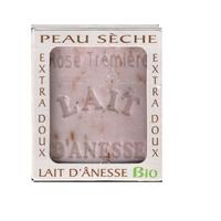 Savon lait anesse BIO (ROSE TREMIERE) 100g Fabriqué en FRANCE