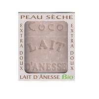 Savon lait anesse BIO (NOIX DE COCO) 100g Fabriqué en FRANCE