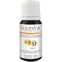Vitamine D3 et K2 MK7 20ml DUOVIA Forme assimilable