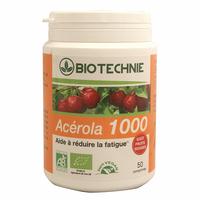 Acérola bio 1000 50 comprimes gout fruit rouges biotechnie