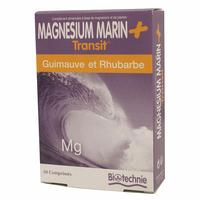 Magnésium Guimauve Rhubarbe Transit 30 comprimes BIOTECHNIE
