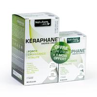 Kéraphane 180 gelules + 60 gelules OFFERT kératine, acides aminés, plantes, minéraux et vitamines