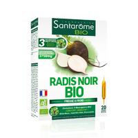 Radis noir Bio 20 ampoules Bourgeons Bouleau, Genévrier, Romarin.