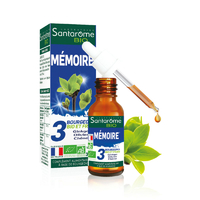 Mémoire et performances cognitives BIO 30ml Bourgeons Chêne, Gingko, Olivier