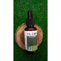 Huile CBD 1% bio 30ml - full spectrum avec pipette
