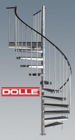 Escalier h lico dal ext rieur dolle en acier galvanis for Escalier helicoidal exterieur