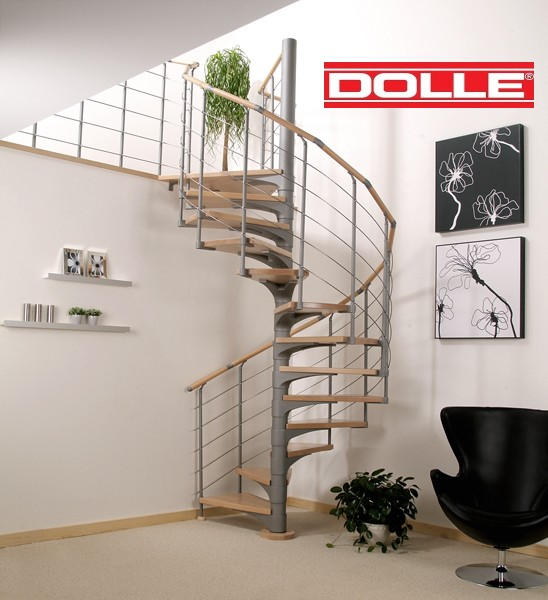 escalier h lico dal dolle dresden en acier et h tre 120 cm. Black Bedroom Furniture Sets. Home Design Ideas