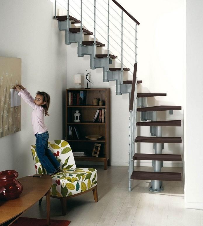 Escalier ark komoda en m tal et h tre escaliers quart - Escalier 70 cm largeur ...