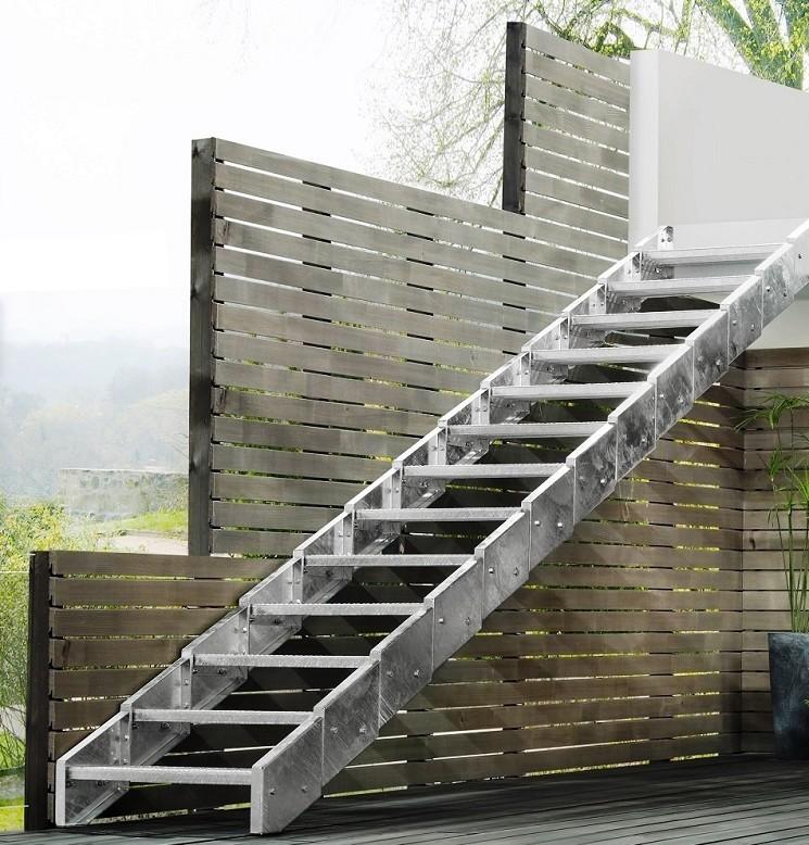 Escalier D 39 Ext Rieur En Acier Galvanis Steinhaus Chemnitz