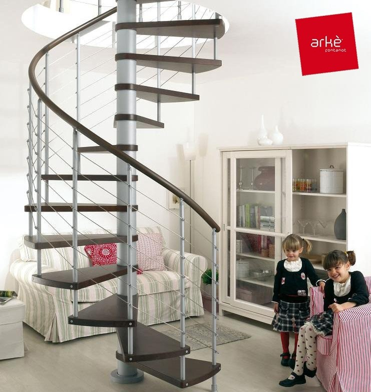Escalier h lico dal ark klo 140 cm escaliers en for Barriere de securite pour escalier helicoidale