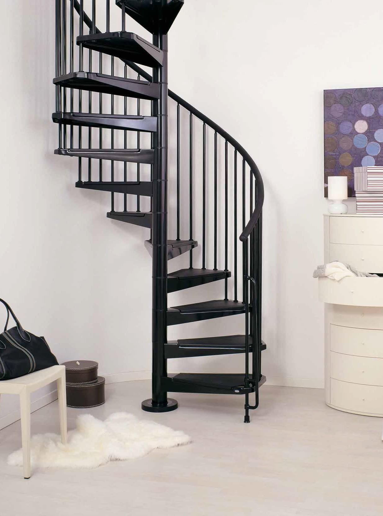 Barriere Escalier En Colimaçon escalier en colimaçon / à spirale arkè civik en acier noir