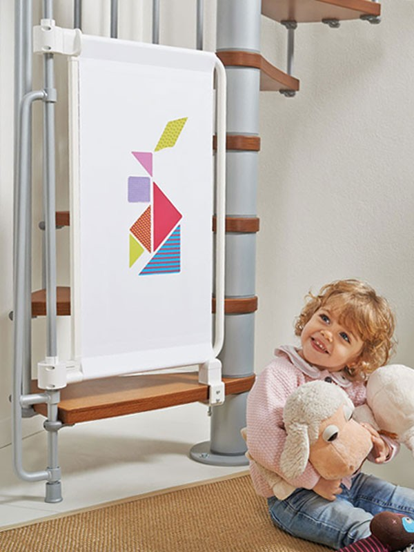 Barri re de s curit enfants pour escaliers en kit kalypto for Barriere de securite pour escalier helicoidale