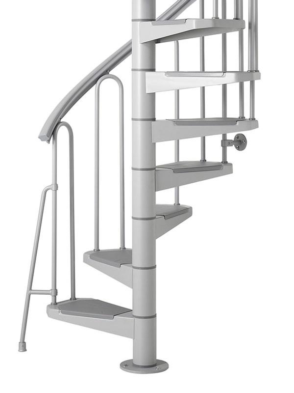 Escalier colima on h lico dal acier gris fontanot af26 100 cm for Comescalier helicoidal acier