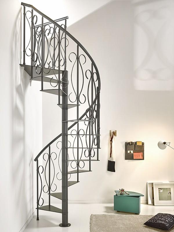 escalier h lico dal en colima on en m tal fer forg fontanot unique 130 cm escaliers en. Black Bedroom Furniture Sets. Home Design Ideas
