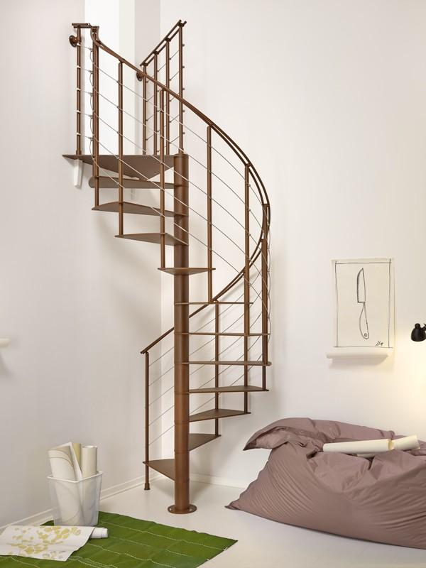 escalier en colima on acier gris fonte fontanot slim 130 cm. Black Bedroom Furniture Sets. Home Design Ideas