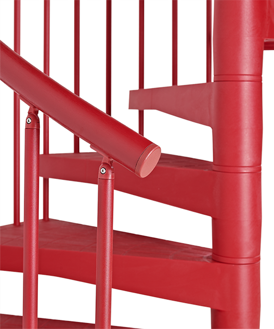 Escalier d 39 ext rieur en colima on fontanot techne rouge for Escalier exterieur plastique