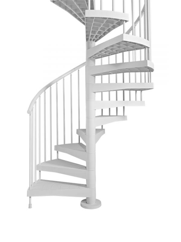 Escalier en colima on d 39 ext rieur fontanot techne blanc 120 cm - Largeur escalier colimacon ...
