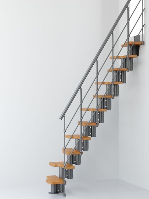 Escalier gain de place magia 50 xtra en acier et bois - Changer escalier de place ...