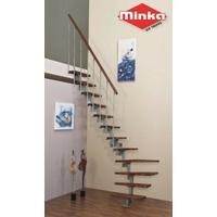 Escalier quart-tournant en acier et hêtre Minka Vienne