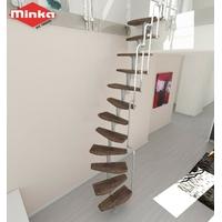 Escalier gain de place Minka Nantes en acier et hêtre