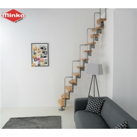 Escalier gain de place en acier et hêtre Minka Nantes