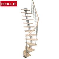 Escalier gain de place en acier et hévéa Dolle Copenhague