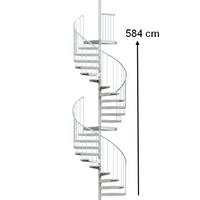 Escalier en colimaçon 2 étages en acier galvanisé Treppen Fribourg Ø 130 cm