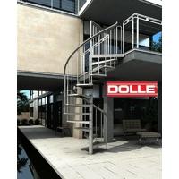 Escalier hélicoïdal / en colimaçon d'extérieur Dolle Toronto en acier galvanisé Ø 125 cm