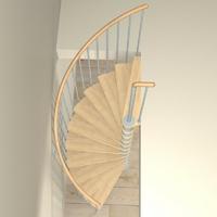 Escalier colimaçon en acier gris clair Fontanot Tulip Ø 178 cm