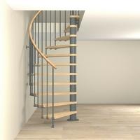 Escalier semi-hélicoïdal en acier gris fonte Fontanot Tulip Ø 168 cm