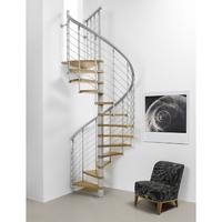 Escalier en colimaçon Fontanot Nice Line en bois métal Ø 130 cm