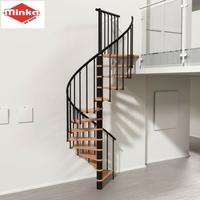 Escalier en colimaçon Minka Berlin en acier et hêtre Ø 140 cm