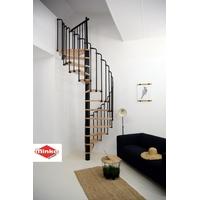 Escalier en colimaçon en acier noir et bois Minka Paris Ø 140 cm