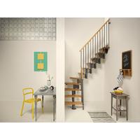 Escalier quart-tournant en acier gris fonte Fontanot Nice 4