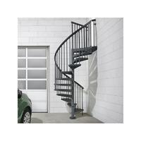 Escalier d'extérieur en colimaçon en acier galvanisé gris fonte Fontanot Sky030 Ø 140 cm